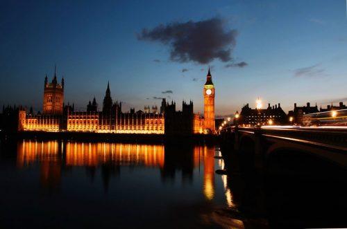 Londra tramonto big ben