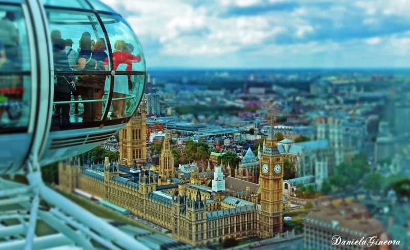 Londra panorama del big ben dal london eye