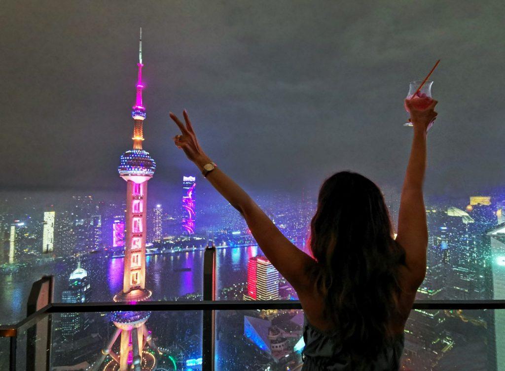 shanghai skyline grattacieli night cina