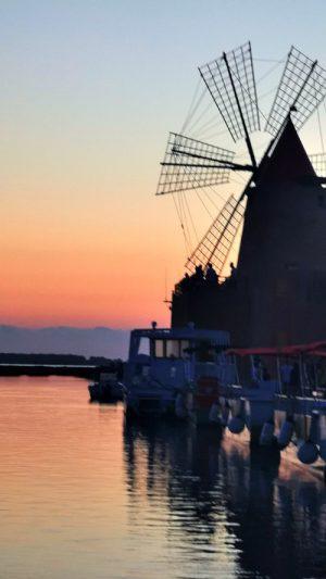 saline marsala mammacaura tramonto mulino
